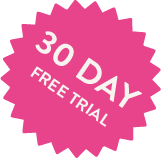 30 day free trial sticker